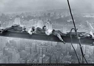 Resting on a girder